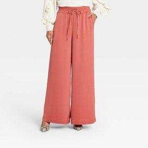 Women's High Rise Wide Leg Pants Sz S